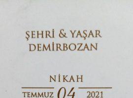 Şehri Demirbozan'ın oğlunun nikahına davetlisiniz